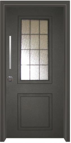 דלת כניסה פנורמי שחור - דלתות אלון