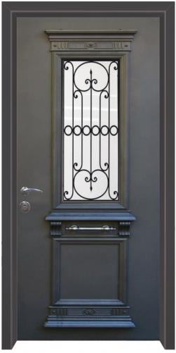 דלת כניסה יווני כחול  - דלתות אלון