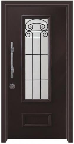דלת כניסה נפחות שחור - דלתות אלון