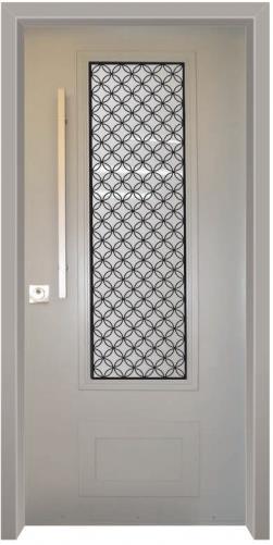 דלת כניסה נפחות לבן - דלתות אלון