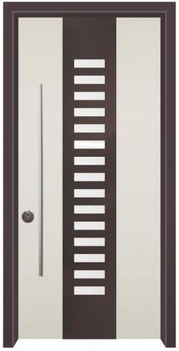 דלת כניסה נפחות שחור לבן - דלתות אלון