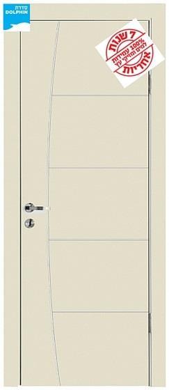 דלת פנים פסי ניקל חץ וקשת - דלתות אלון