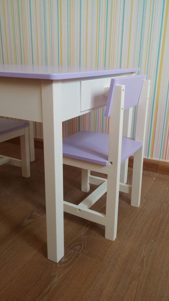סט שולחן עם מגירות לילך - קוקולה