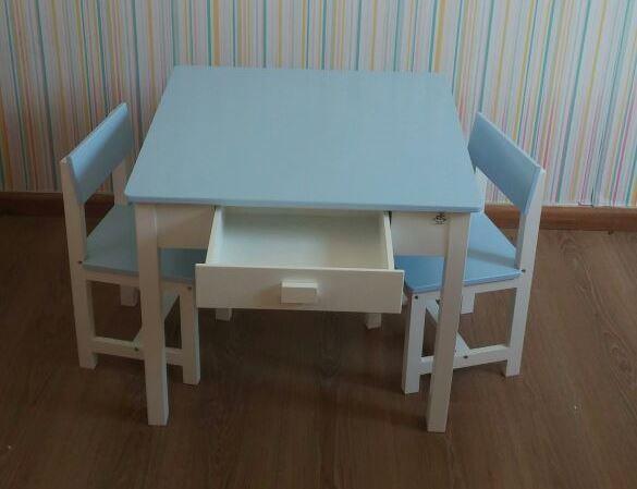 סט שולחן עם מגירות תכלת - קוקולה