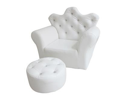 ספה נסיכה והדום לבן - קוקולה