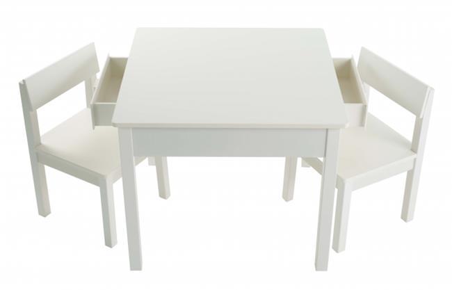 סט שולחן עם מגירות לבן - קוקולה