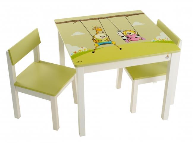 סט שולחן גיאצ'וק פיסטוק - קוקולה