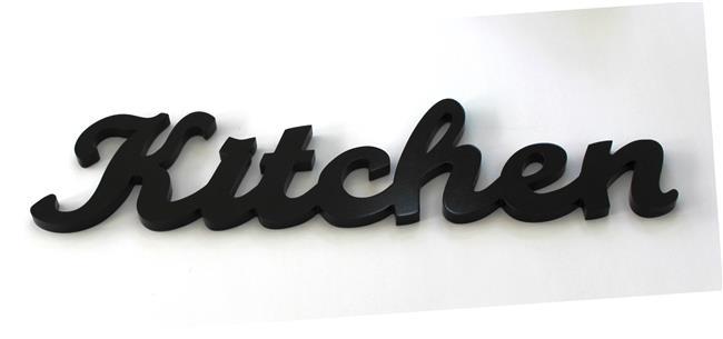 מילה מעוצבת KITCHEN שחור - קוקולה