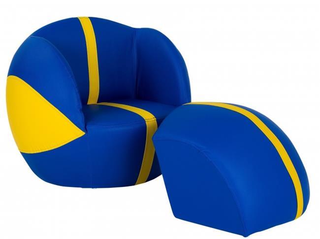 ספה בצורת כדורסל צהוב כחול - קוקולה