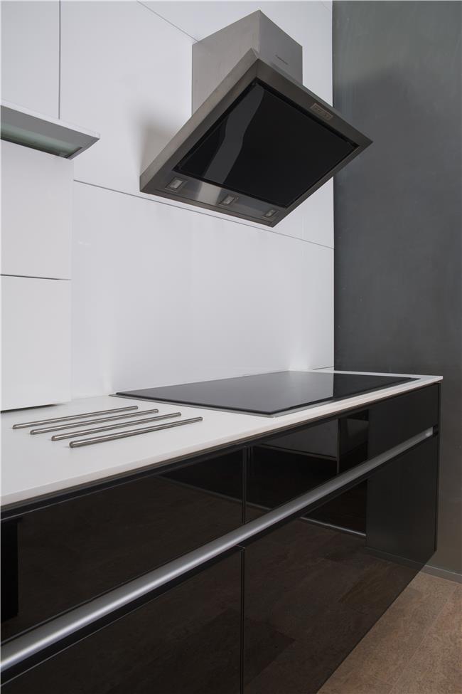 מטבח שחור לבן קקטוס - מטבחי הדקל