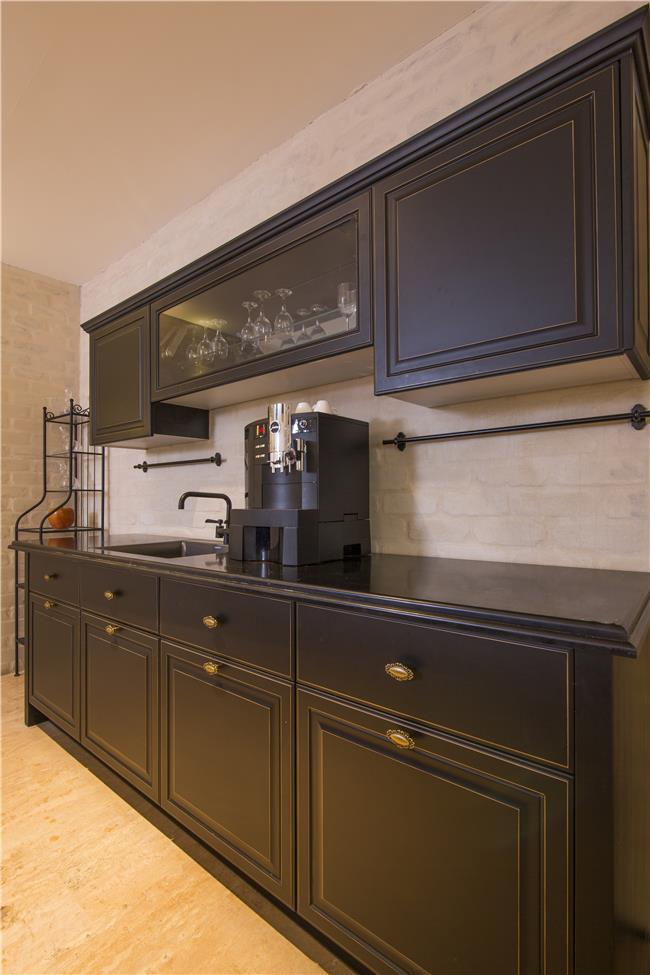 מטבח פרובנס שחור - מטבחי הדקל