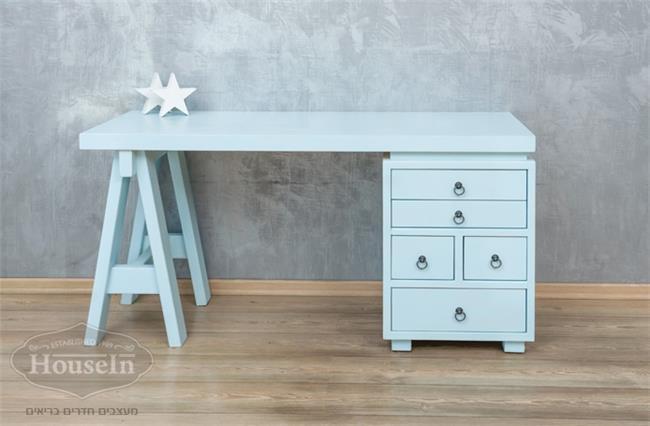 שולחן כתיבה מעץ מלא ירין - HouseIn