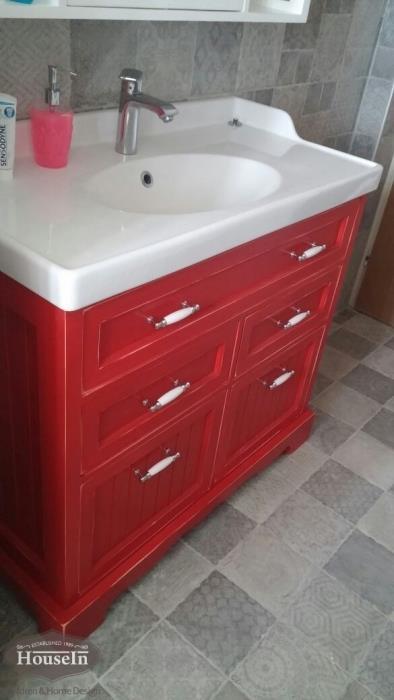 ארון אמבטיה אדום - HouseIn