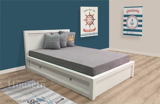מיטת נוער עם ארגז מצעים אלמוג - HouseIn