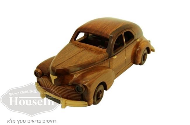 מכונית פיז'ו וינטאג' עשויה מעץ - HouseIn