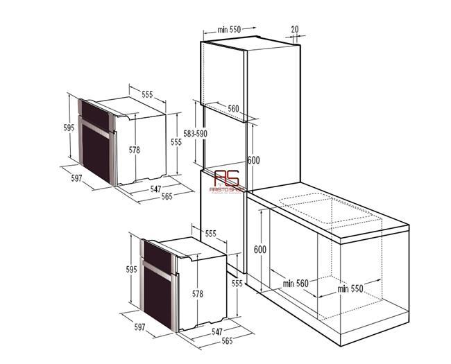 תנור אפייה בנוי BO8746AX  - Aristo Shop