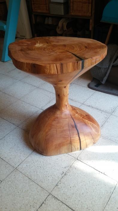שולחן צד ברושתיים - טימבר ארט