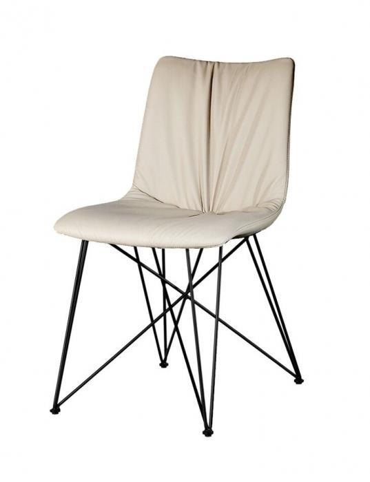 כיסא אוכל ספיידר בז' מתכת - Besto