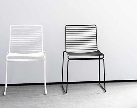 כיסא מתכת מרובע לבן - Besto