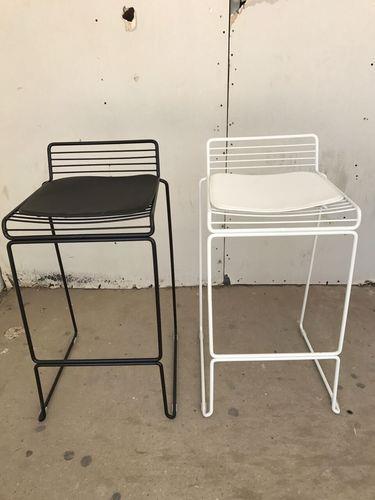 כיסא בר מתכת לבן - Besto