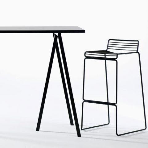 כיסא בר מתכת שחור - Besto