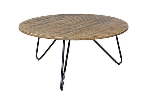 שולחן סלון אקסו שחור עגול - Besto