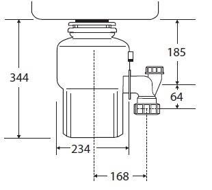 טוחן אשפה 200-2 InSinkErator - טאגור סנטר