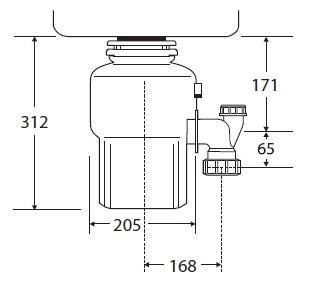טוחן אשפה 100-2 InSinkErator - טאגור סנטר