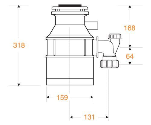 טוחן אשפה 46-2 InSinkErator - טאגור סנטר