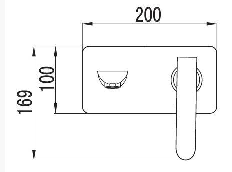 ברז אמבט מקיר 5200 - טאגור סנטר