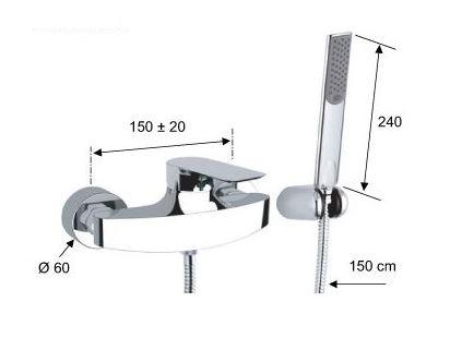 סוללה למקלחת I39 - טאגור סנטר