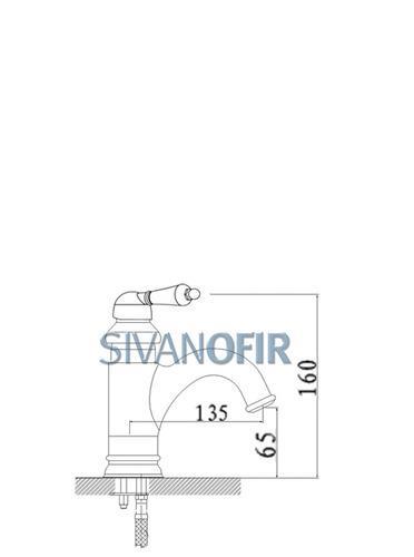 ברז פרח קצר 1417 B CB - טאגור סנטר