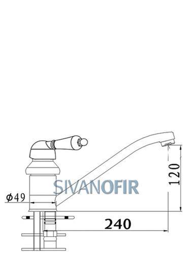 ברז פרח ארוך 1413 LR - טאגור סנטר