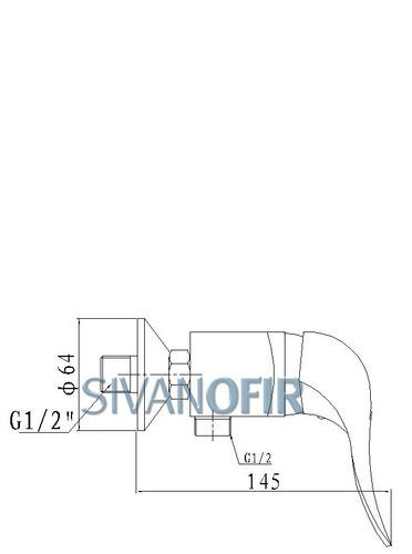 סוללה למקלחת קומפלט 2304 - טאגור סנטר