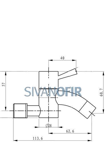 ברז קיר סטיק 2070 - טאגור סנטר