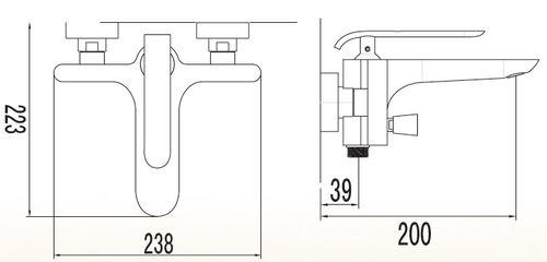 ברז סוללה לאמבט 52005 - טאגור סנטר