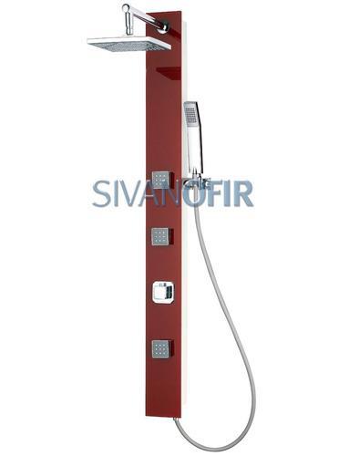 פנל אדום חלק צר 2104 S - טאגור סנטר