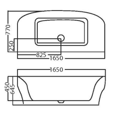 אמבטיה חצי עגולה אקרילית 1705  - טאגור סנטר