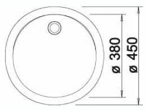 כיור רונדו עגול 37-511621F  - טאגור סנטר