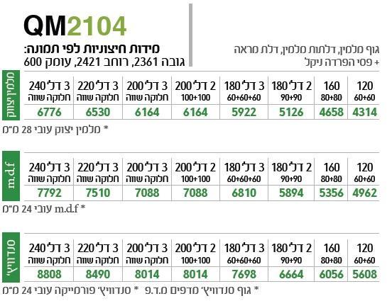 ארון הזזה QM2104 - ספקטרום