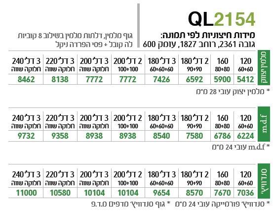 ארון הזזה QL2154 - ספקטרום
