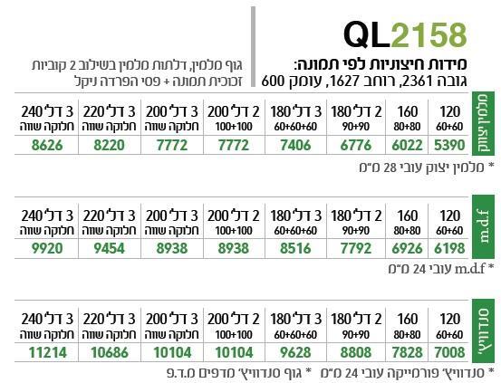 ארון הזזה QL2158 - ספקטרום