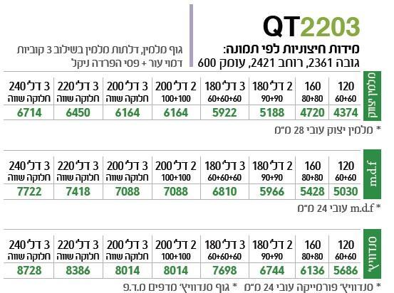 ארון הזזה QT2203 - ספקטרום