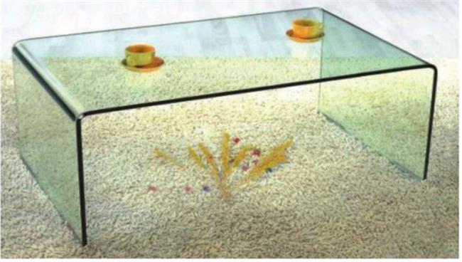 שולחן זכוכית שקוף - Green house