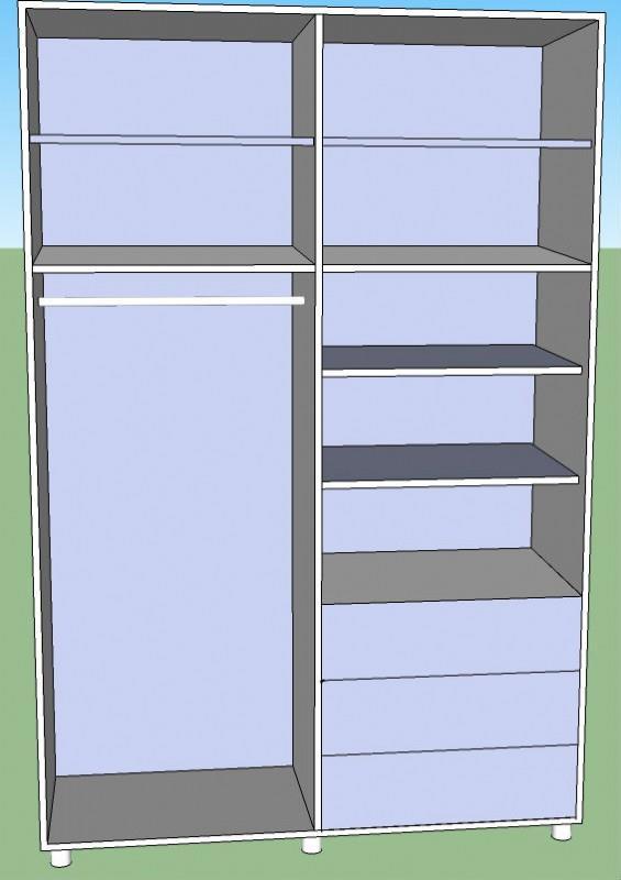 ארון דלתות אירופאי MDF - Green house