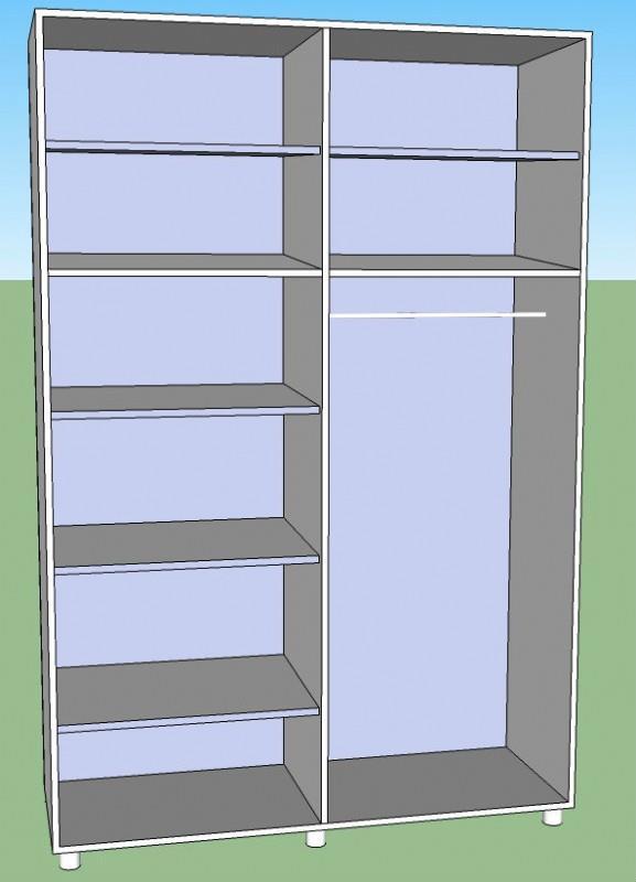 ארון הזזה דגם לוגי - Green house