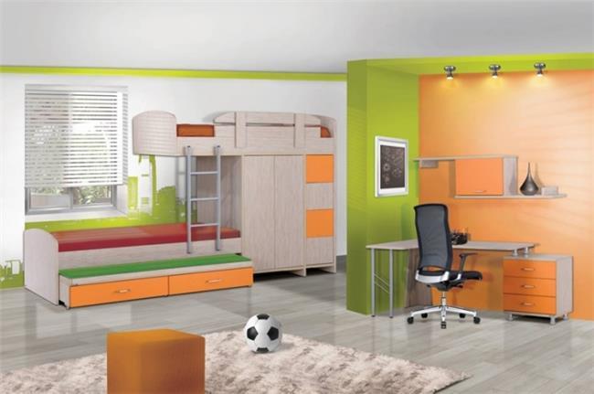 חדר ילדים דגם סנדי - Green house