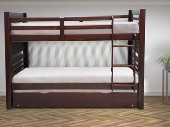 מיטת קומותיים עץ מלא - Green house