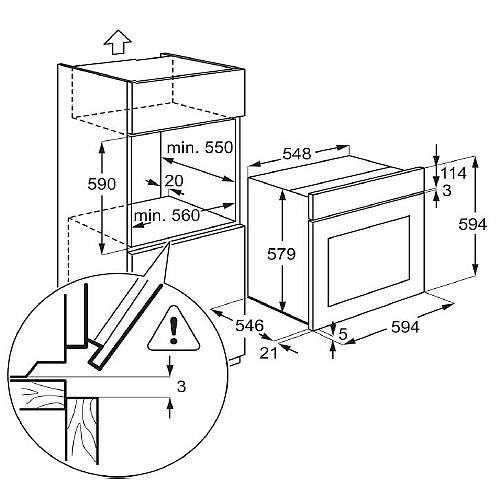 תנור אפייה AEG BE1531310M - אלקטריק דיל ElectricDeal