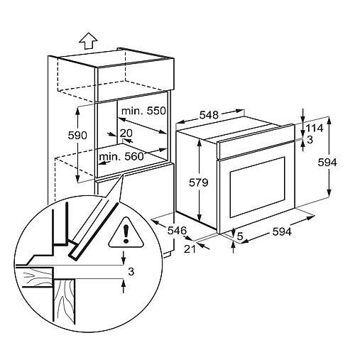 תנור אפייה AEG BE1731410W - אלקטריק דיל ElectricDeal